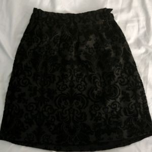 Forever 21 Black Crushed Miniskirt with Details